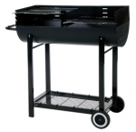 Lifestyle Half Barrel Charcoal BBQ Barbeque