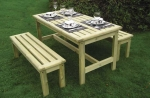 Athol Chunky Picnic Table and Bench Set 1500mm