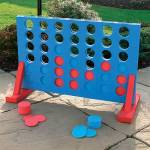 Giant Connect 4 Style Garden Game