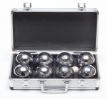 Deluxe Steel Boules With Metal Case Garden Game