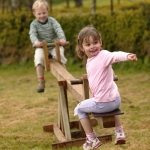 Kids Traditional Wooden SeeSaw See Saw