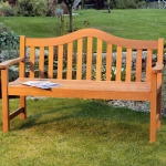 Lifestyle 1.5m (5 Foot) Hardwood Wooden Bench