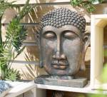 La Hacienda Extra Large Resin Male Buddha Head on Base