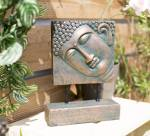 La Hacienda Large Resin Female Buddha Head on Base