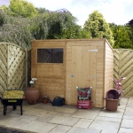 8ft x 6ft Shiplap Pent Garden Shed