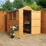 6ft x 4ft Overlap Apex Garden Shed