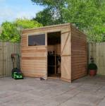 8ft x 6ft Overlap Pent Garden Shed