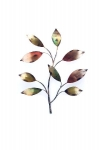 Contemporary Metal Wall Art - Exotic Leaves