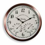 Henley Outdoor Garden Wall Clock and Thermometer