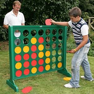 Giant Connect 4 Big 4 Wooden Garden Game