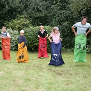 Sack Race Garden Game
