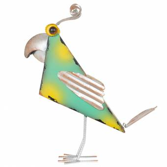 La Hacienda Juan Geometric Bird Metal Garden Ornament