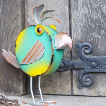 La Hacienda Pedro Geometric Bird Metal Garden Ornament