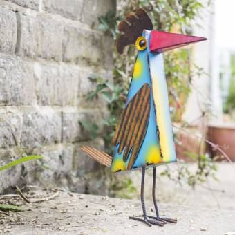 La Hacienda Rafael Geometric Bird Metal Garden Ornament