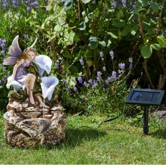 Smart Solar Liliana Fairy Cascade Garden Water Feature Fountain