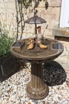 Smart Solar Duck Family Garden Water Feature Fountain