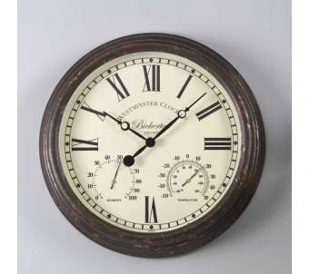 Bickerton Outdoor Garden Clock and Thermometer