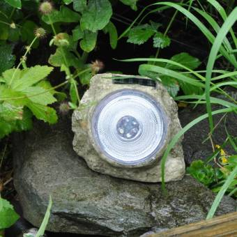 Premium Large Solar Garden Rock Light