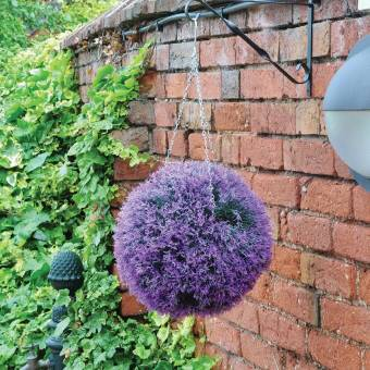 Kingfisher Lavender Artificial Topiary Ball