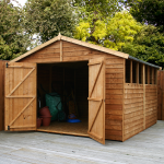 10ft x 10ft Overlap Apex Garden Shed