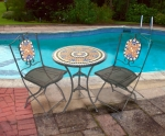 Kingfisher Mosaic Bistro Set Patio Table and Chair Set
