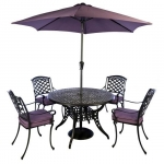 Norfolk Leisure Cast Aluminium 4 Seat Dining Set