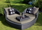 Norfolk Leisure Black  Ravello Heart Set Rattan Furniture