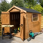 8ft x 6ft Premium Shiplap Apex Tongue and Groove Garden Shed