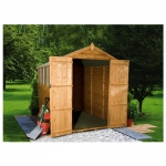 8ft x 6ft Overlap Apex Garden Shed - Double Door