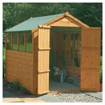 8ft x 6ft Shiplap Apex Garden Shed - Double Door