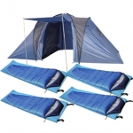 2 Bedroom 4 Man Family Camping Set