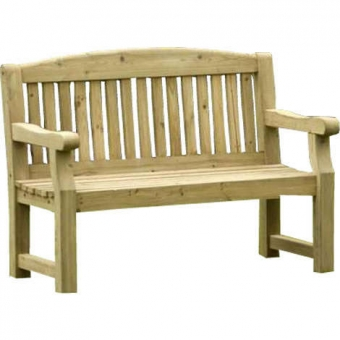 Athol Chunky 4ft Foot Wooden Bench Wooden Garden Furniture
