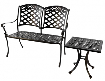 Norfolk Leisure Cast Aluminium Bench Set